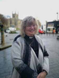 Revd Elaine Munday talking about the Bodmin Way