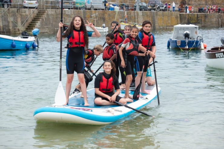 Children from Grenfell on the water