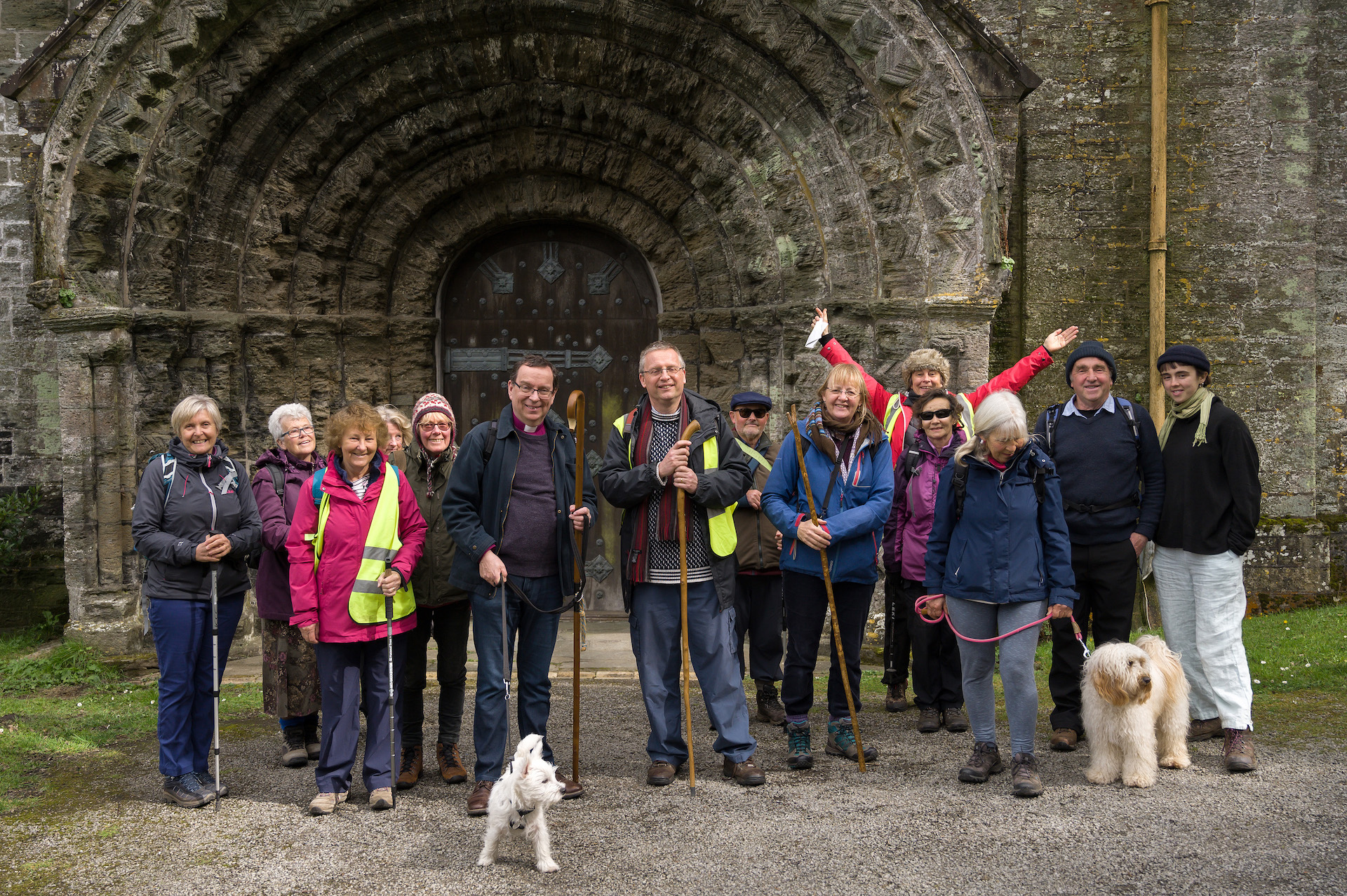 Walkers on Cornish Celtic Way