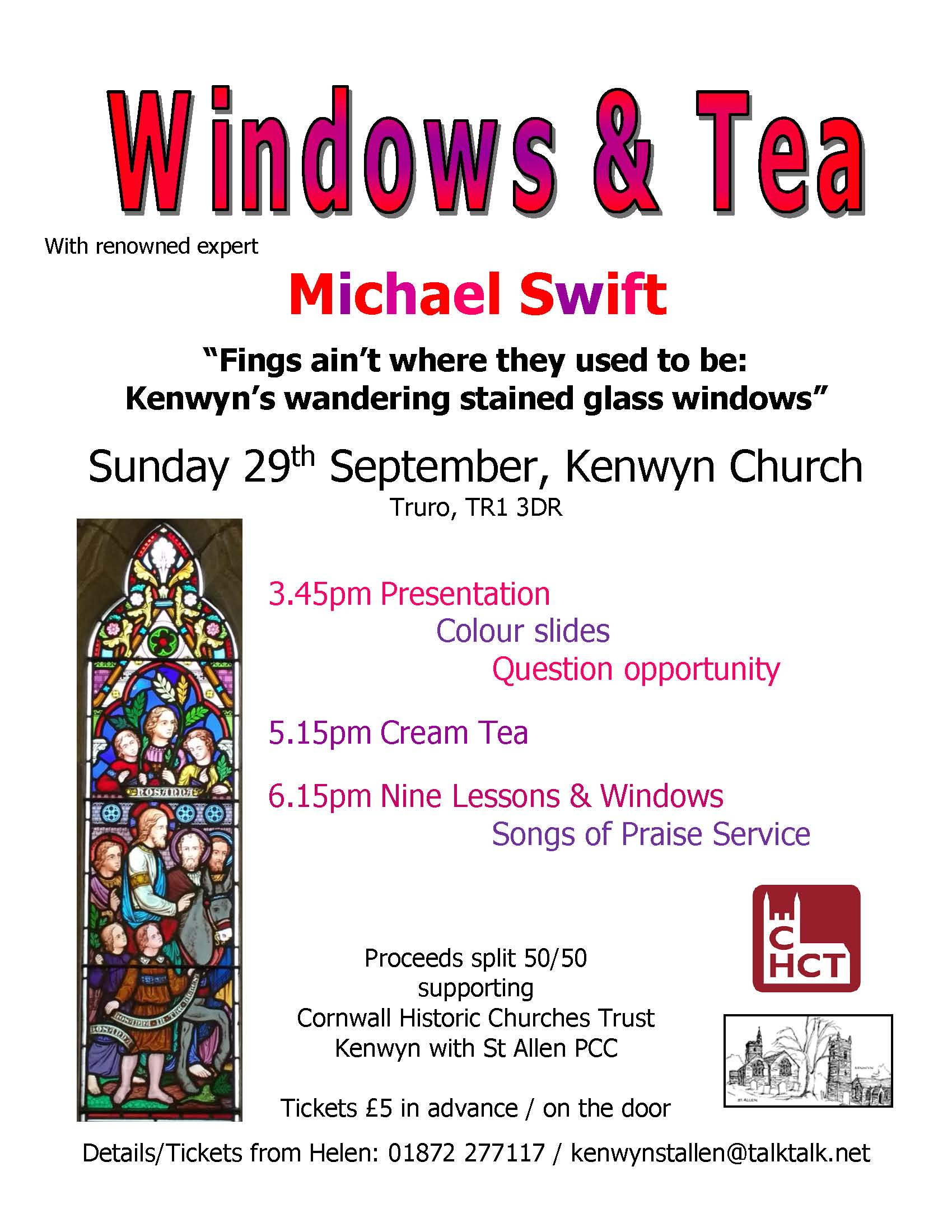 Windows and Tea with renowned expert Michael Swift - Truro Diocese