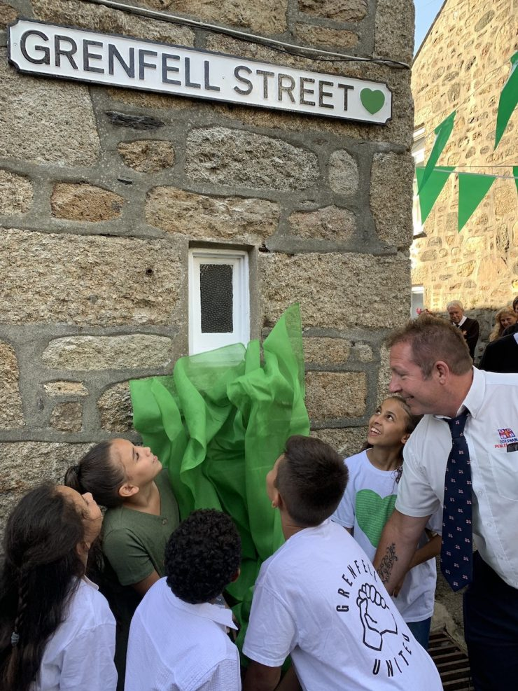 Grenfell Street Sign Unveiled