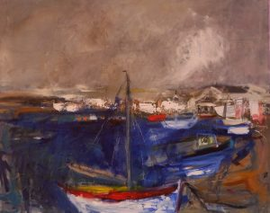 Sailing Boats painting by Jane Vaughan-Wilson