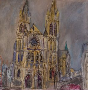 Cathedral painting by Jane Vaughan-Wilson